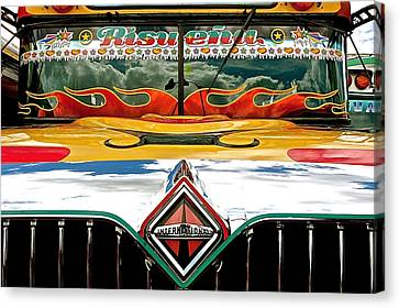 Chicken Bus 1 Canvas Print by Eye Browses