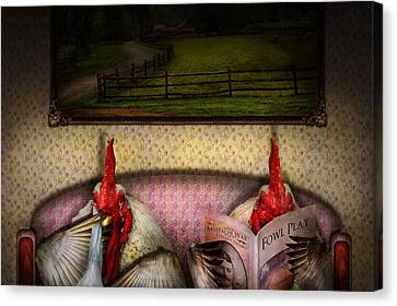 Chicken - Chick Flick Canvas Print by Mike Savad