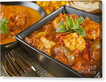 Chicken Jalfrezi Curry Canvas Print by Colin and Linda McKie