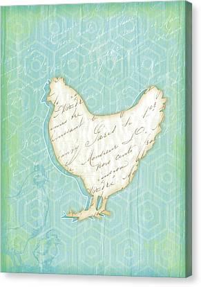 Chicken Canvas Print by Jennifer Pugh