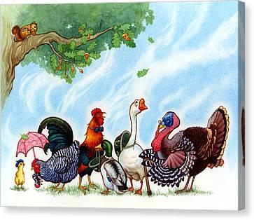 Chicken Licken Canvas Print by Isabella Kung