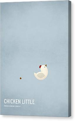 Children Stories Canvas Print - Chicken Little by Christian Jackson