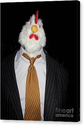 Chicken Man Canvas Print by Linda Matlow