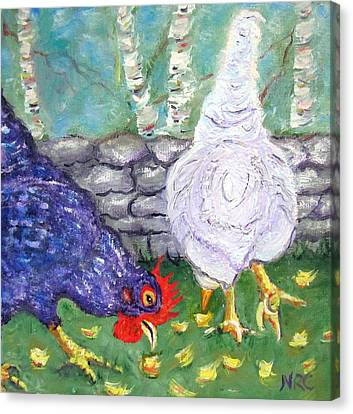Chicken Neighbors Canvas Print