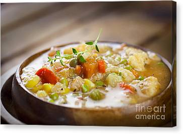 Chicken Stew Canvas Print by Mythja  Photography