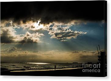 Chick's Beach Morning Canvas Print by Angela DeFrias