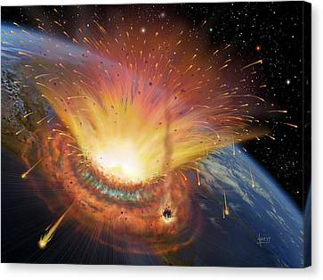 Chicxulub Impact Event Canvas Print by David A. Hardy