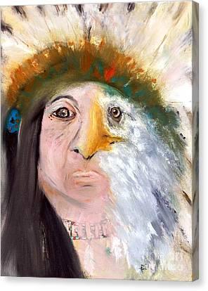 Chief Black Eagle Canvas Print by Ayasha Loya
