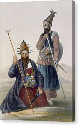 Chief Executioner And Assistant Of His Canvas Print by James Rattray