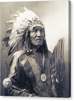 Chief He Dog Of The Sioux Nation  C. 1900 Canvas Print