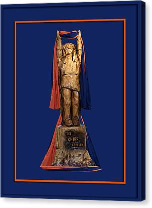 Chief Illiniwek University Of Illinois 05 Canvas Print