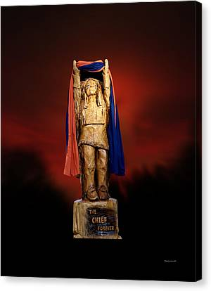 Chief Illiniwek University Of Illinois 06 Canvas Print
