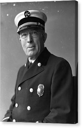 Chief John C. Mcdonnell Century Of Progress Fire Department Chicago  Canvas Print by Retro Images Archive