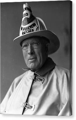 Chief John C. Mcdonnell Century Of Progress Fireman Canvas Print by Retro Images Archive