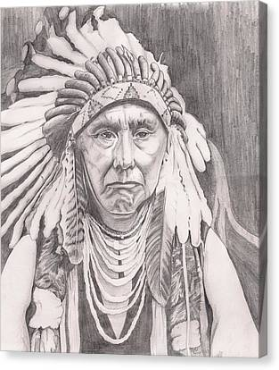 Chief Joseph Canvas Print by Beverly Marshall