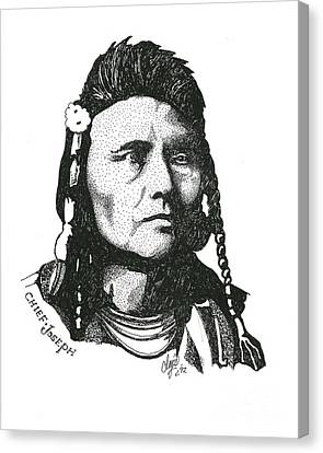 Chief Joseph Canvas Print by Clayton Cannaday