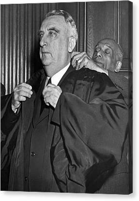 Chief Justice Fred Vinson Canvas Print by Underwood Archives