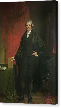 Chief Justice Marshall Canvas Print by Chester Harding