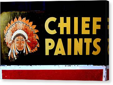 Chief Paints Sign Canvas Print by Karyn Robinson