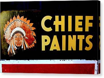 Chief Paints Sign Canvas Print