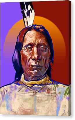 Chief Red Cloud Canvas Print by Arie Van der Wijst