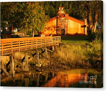 Canvas Print featuring the photograph Chief Shakes House by Laura  Wong-Rose