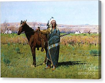 Chief Spotted Tail Canvas Print by Pg Reproductions