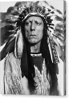 Chief War Eagle C. 1909 Canvas Print by Daniel Hagerman