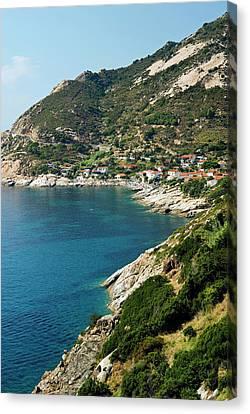 Chiessi, Isola D'elba, Elba, Tuscany Canvas Print by Nico Tondini
