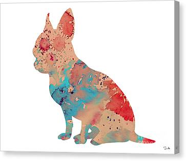Chihuahua 3 Canvas Print by Watercolor Girl