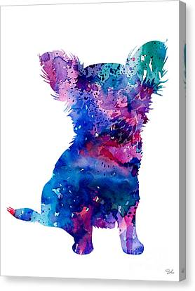 Chihuahua 5 Canvas Print by Watercolor Girl