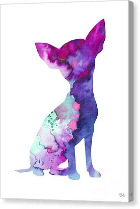 Chihuahua 7 Canvas Print by Watercolor Girl