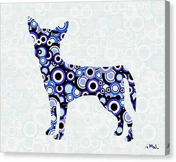 Abstract Digital Canvas Print - Chihuahua - Animal Art by Anastasiya Malakhova
