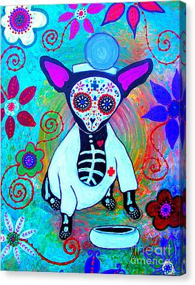 Chihuahua Doctor Canvas Print by Pristine Cartera Turkus