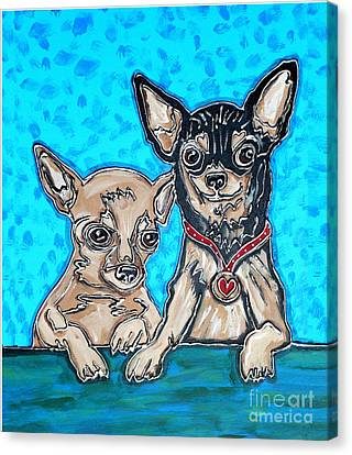 Chihuahua Duo Canvas Print by Cynthia Snyder