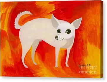Chihuahua En Fuego Canvas Print by Lori Ziemba