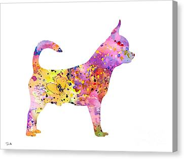 Chihuahua Canvas Print by Watercolor Girl