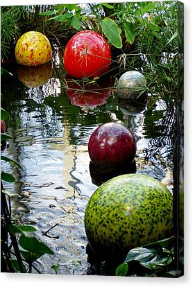 Chihuly Globes Canvas Print by Laurel Talabere