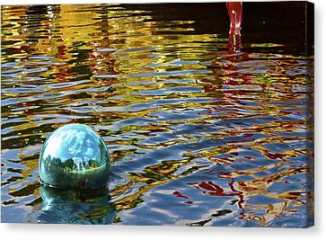 Canvas Print featuring the photograph Chihuly Reflection I by John Babis