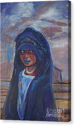 Child Bride Of The Sahara Canvas Print by Avonelle Kelsey