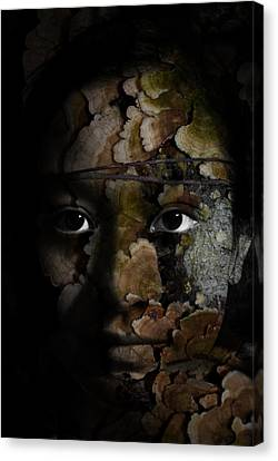 Child Of The Forest Canvas Print by Christopher Gaston