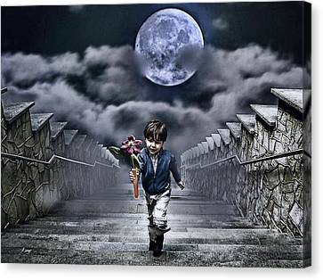 Child Of The Moon Canvas Print by Joachim G Pinkawa