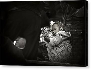 Child  On A Journey Canvas Print by Tom Bell
