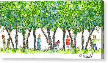 Child Play Canvas Print by Kathleen McElwaine