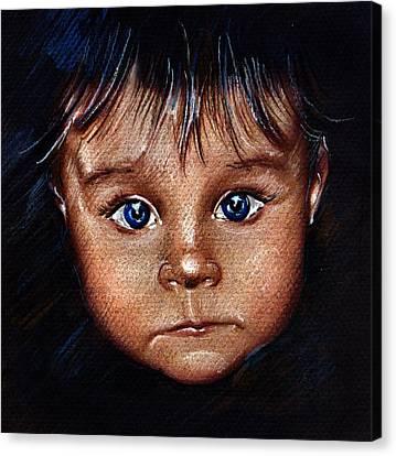 Child Portrait Canvas Print by Daliana Pacuraru