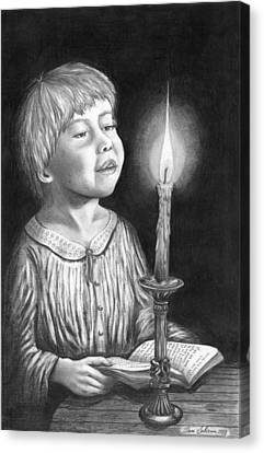Child With Divine Mesmorization Canvas Print by Pierre Salsiccia