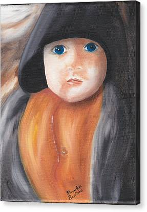 Child With Hood Canvas Print by Brenda Bonfield