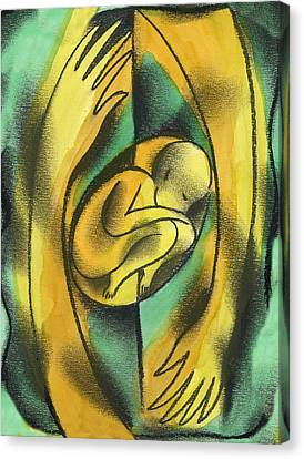 Childbirth Canvas Print by Leon Zernitsky