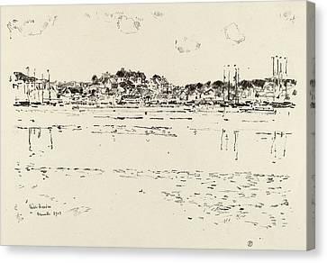 Childe Hassam, Inner Harbor, American, 1859 - 1935 Canvas Print