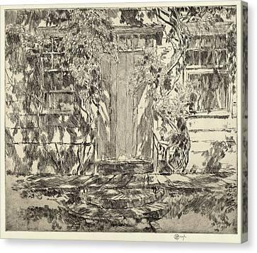 Childe Hassam, Old Doorway, East Hampton Canvas Print